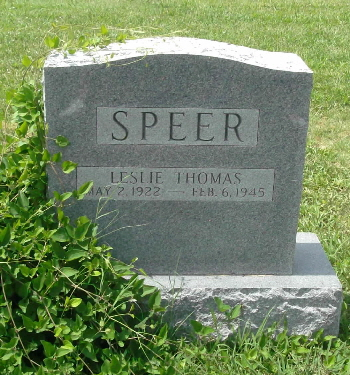 speer leslie t headstone