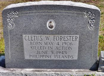 forester cletus w headstone