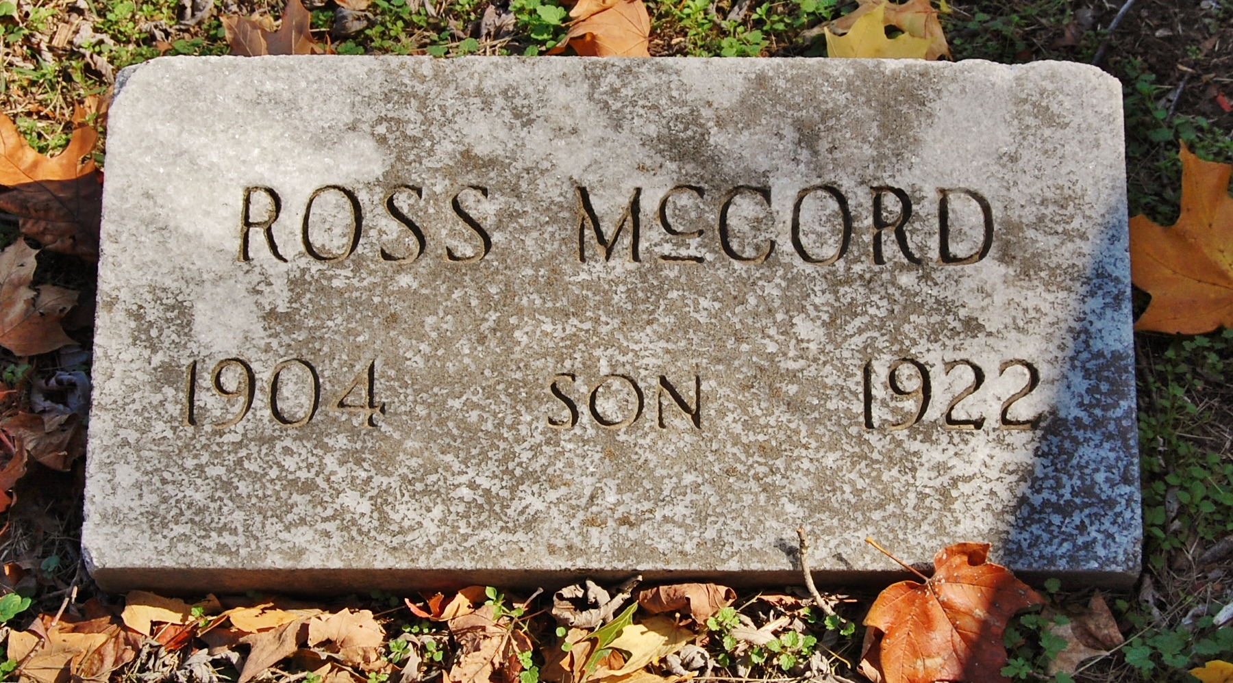 mccord foot stone