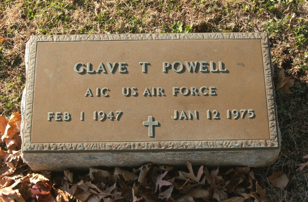powell glave t headstone